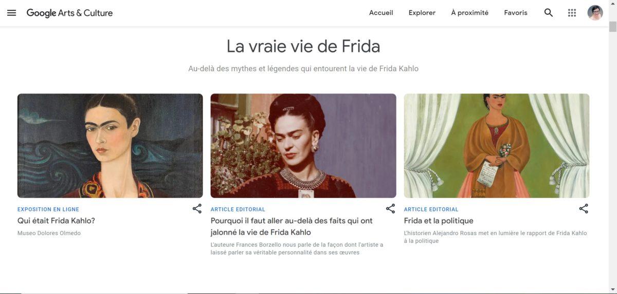 exposition sous forme de site internet, nouveau modèle pour les expositions