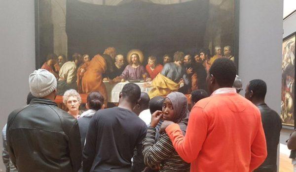 migrants au Louvre