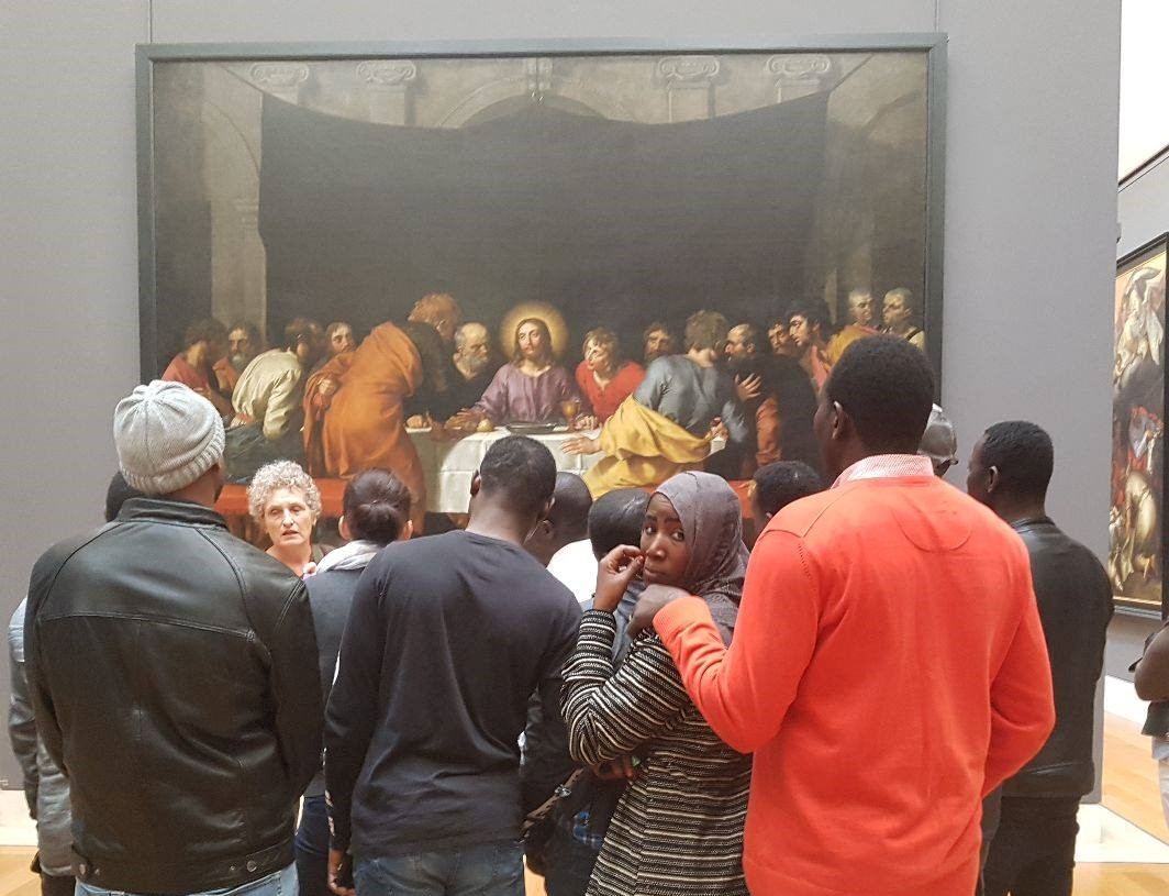 migrants au Louvre