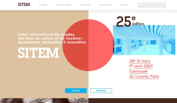 page d'accueil du site web du sitem